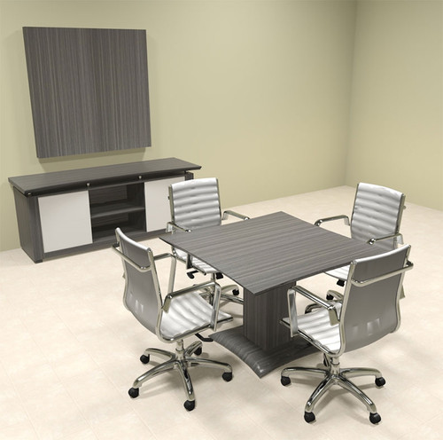 "Modern Contemporary 42"" Square Conference Table, #MT-STE-C1"