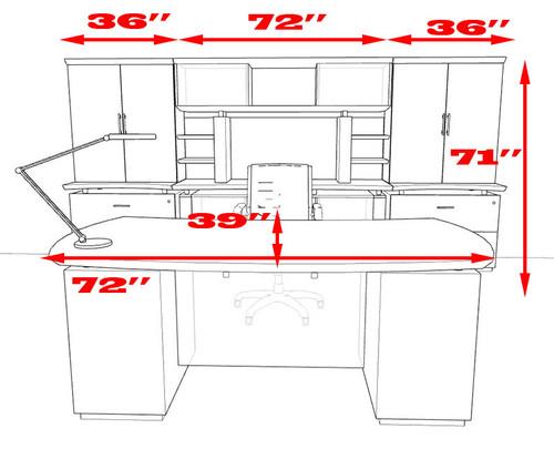 7pc Modern Contemporary Executive Office Desk Set, #MT-STE-D12