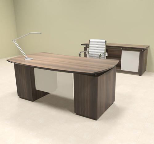 4pc Modern Contemporary Executive Office Desk Set, #MT-STE-D5
