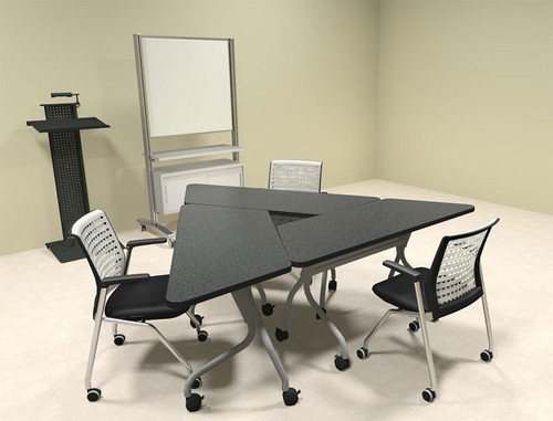3pcs Triangle Shape Training / Conference Table Set, #MT-SYN-LT12