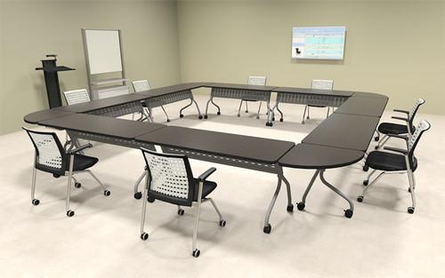 8pcs Square Shape Training / Conference Table Set, #MT-SYN-LT17