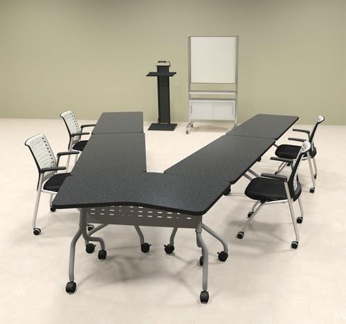 5pcs V Shape Training / Conference Table Set, #MT-SYN-LT24