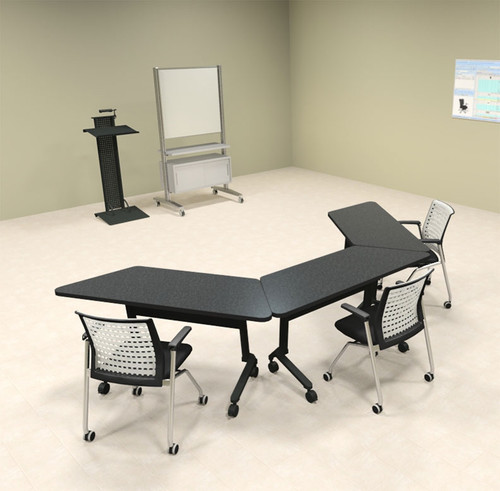 3pcs U Shape Training / Conference Table Set, #MT-SYN-LT54