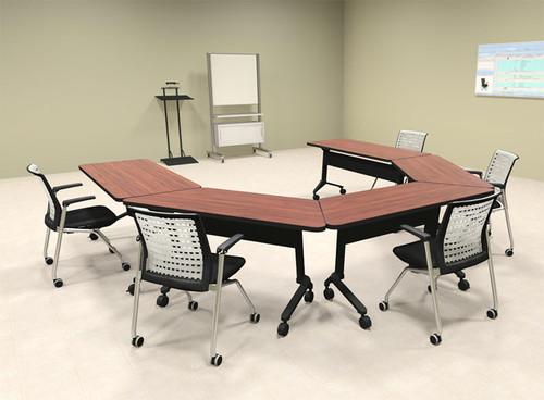 5pcs U Shape Training / Conference Table Set, #MT-SYN-LT58