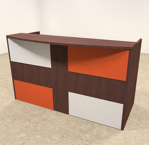 2pc Rectangular Modern Acrylic Panel Office Reception Desk, #OT-SUL-RM38