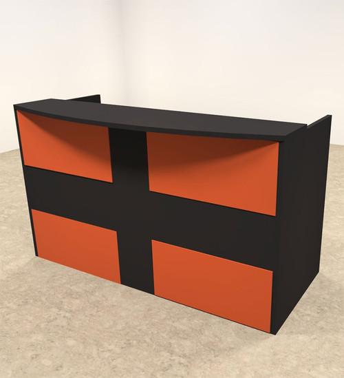 2pc Rectangular Modern Acrylic Panel Office Reception Desk, #OT-SUL-RO28