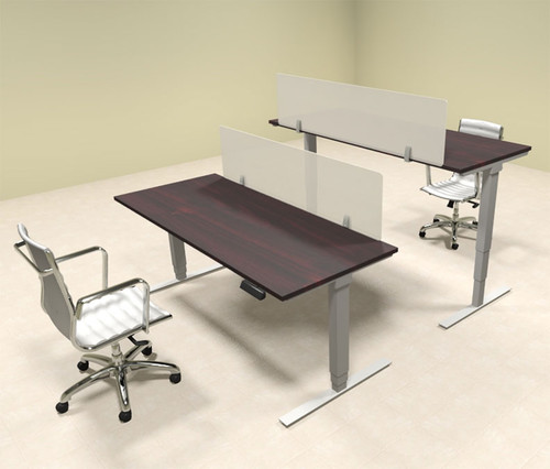 Two Persons Modern Power Adjustable Divider Workstation, #OF-CON-HP5