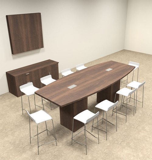 Boat Shape Counter Height 10' Feet Conference Table, #OF-CON-CT4