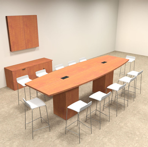 Boat Shape Counter Height 12' Feet Conference Table, #OF-CON-CT8
