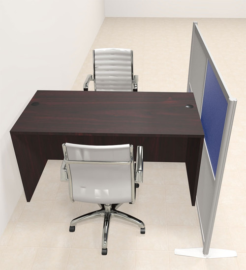 One Person Workstation w/Acrylic Aluminum Privacy Panel, #OT-SUL-HPB15