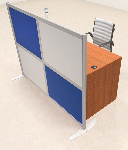 One Person Workstation w/Acrylic Aluminum Privacy Panel, #OT-SUL-HPB25