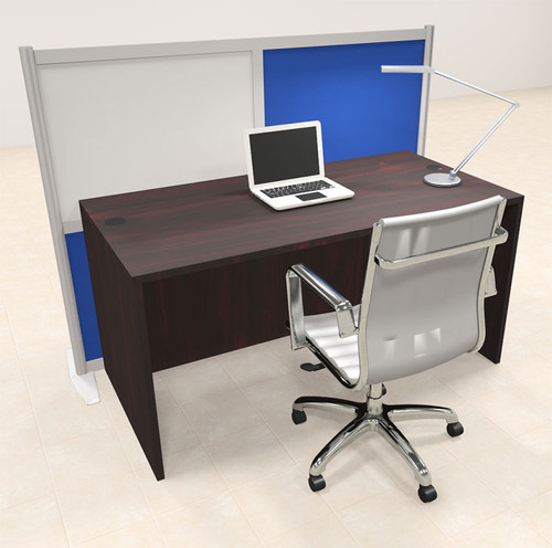 One Person Workstation w/Acrylic Aluminum Privacy Panel, #OT-SUL-HPB27