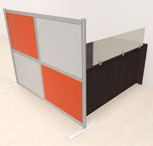 One Person Workstation w/Acrylic Aluminum Privacy Panel, #OT-SUL-HPO75