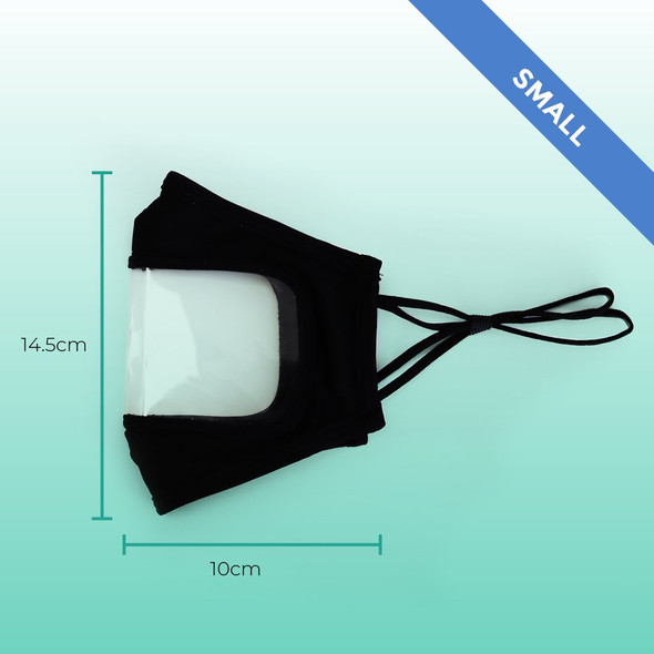 Clear, Reusable Face Mask - Sealed Pack of 2