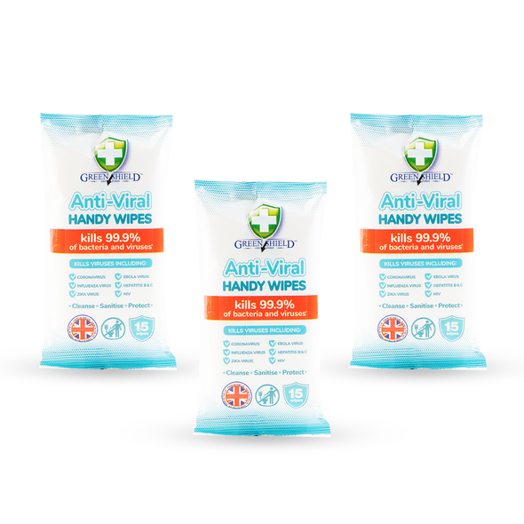 Anti Bacterial Wipes Pocket Size 15 Sheets