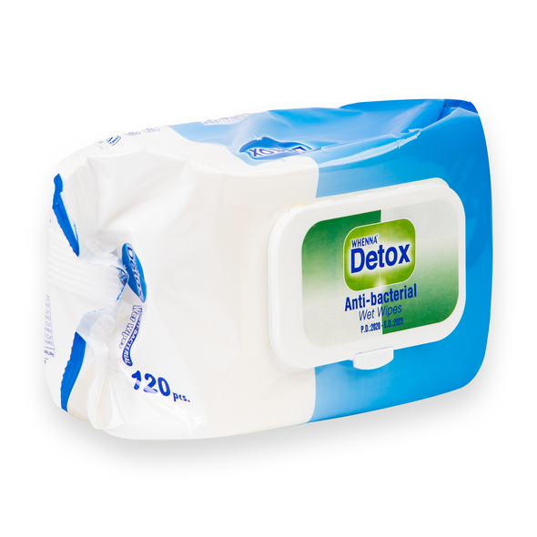 Detox Anti Bacterial Wipes 120 Sheets (side)