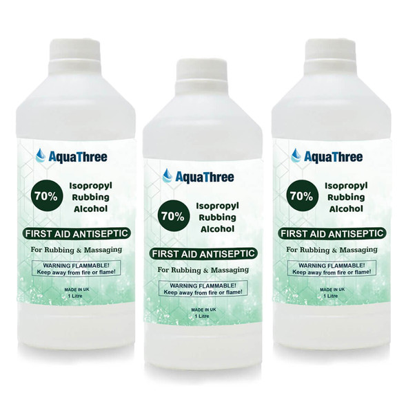 UK Wholesales Isopropyl Rubbing Alcohol 70% 1L and 500ml kills 99.9% of germs, viruses and bacteria. Acting as a multipurpose cleaner and solvent.