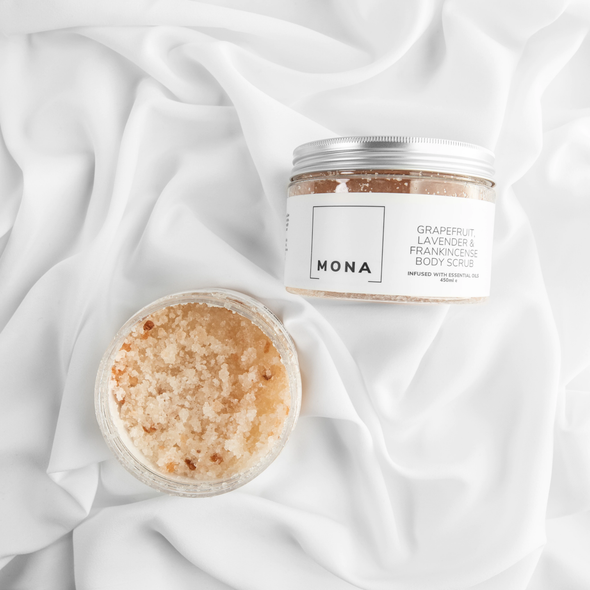 Mona Living Grapefruit, Lavender & Frankincense Body Scrub 450ml
