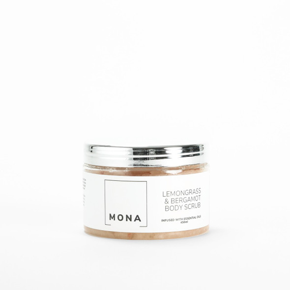 Mona Living Lemongrass and Bergamot Himalayan & Sea Salt Body Scrub 450ml