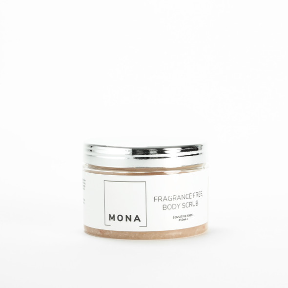 Mona Living Fragrance Free Himalayan & Sea Salt Body Scrub 450ml