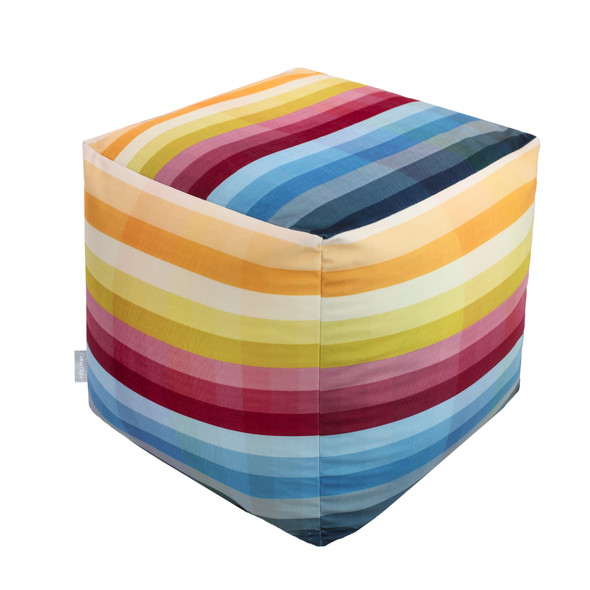 Cube Pouffe - Pixel Stripes