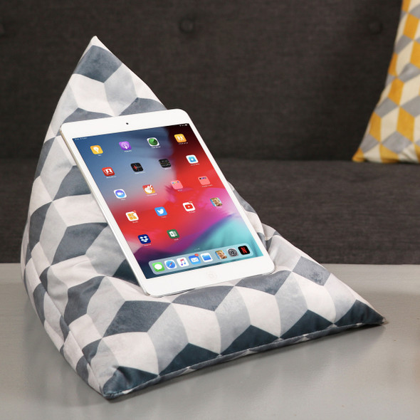 Celina Digby Tablet Beanbag - Cube Grey