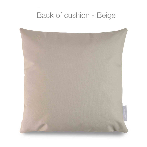 Celina Digby Waterproof Garden Cushion - Cherry Blossom Grey
