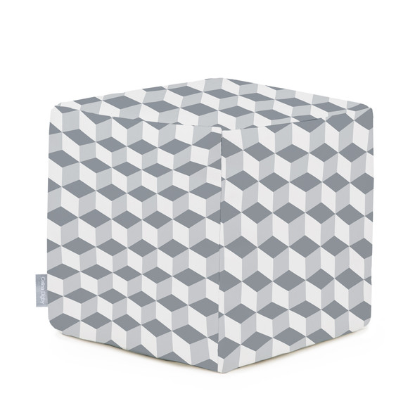Celina Digby Water Resistant Garden Cube Pouffe - Cube Grey