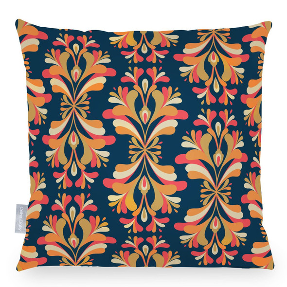 Celina Digby Opulent Velvet Cushion - Retro Damask