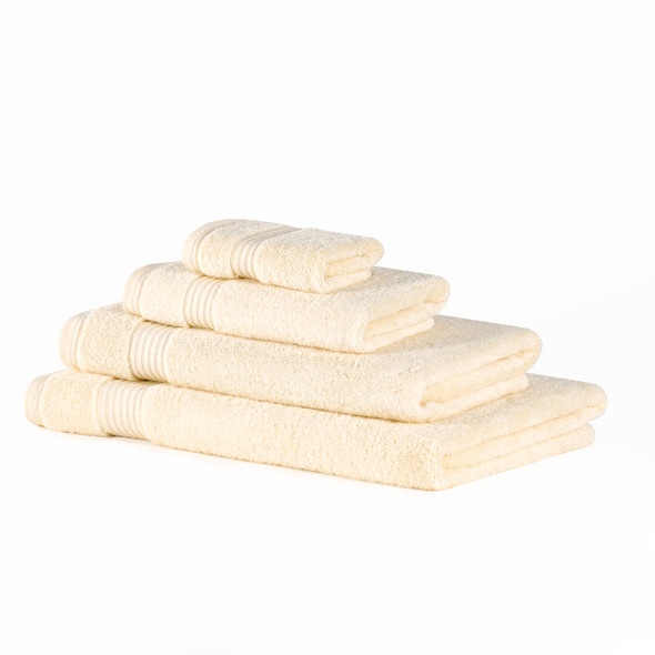 Premium Bamboo Collection Towels - 700 GSM Super Soft (Cream)