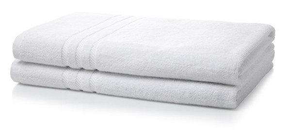 Royal Egyptian Double Yarn 600GSM Luxury Bath Sheets (100x150cm)- White