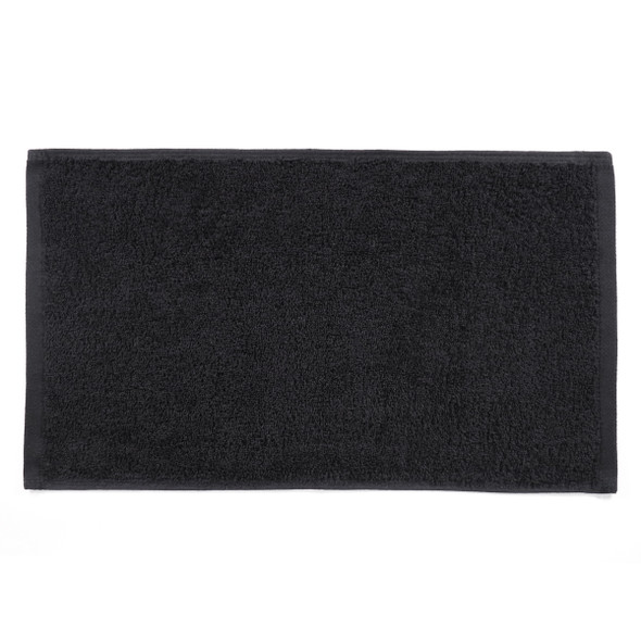 Small Guest Hand Towels  Black
