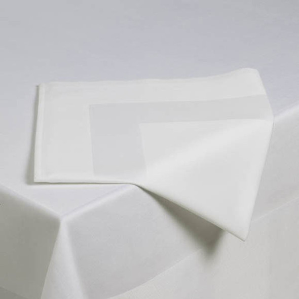 Damask Satin Band Napkins - 100% Cotton