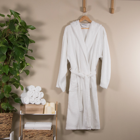 Hooded Terry Towelling Bathrobe