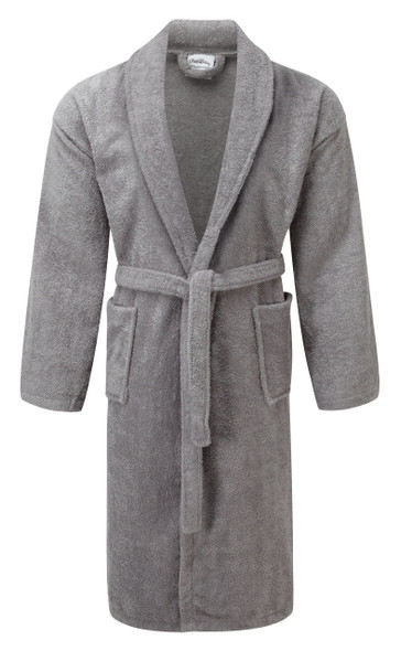 Egyptian Collection Towelling Bathrobe - Shawl Collar (Silver)