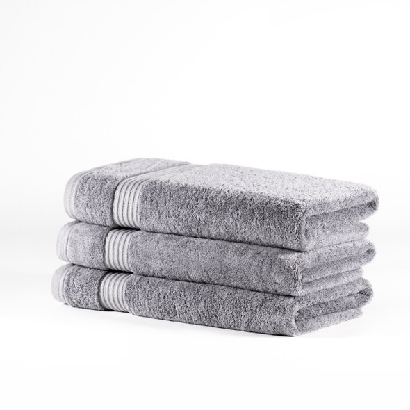 Premium Bamboo Collection Bath Towels - 700 GSM Super Soft (Light Grey)