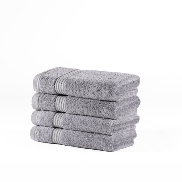 Premium Bamboo Collection Hand Towels - 700 GSM Super Soft (Light Grey)