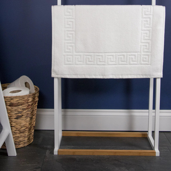 Greek Key 750 GSM Bath Mats - 100% Cotton