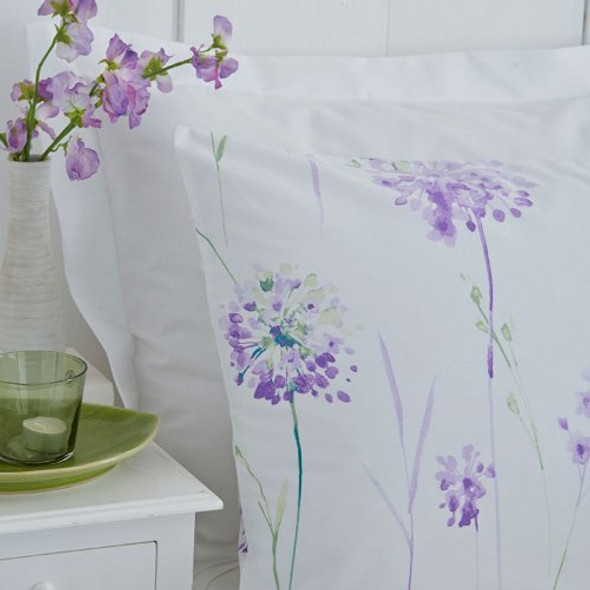 Polycotton Kendall Floral Printed Duvet Cover Set  - Lilac