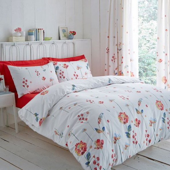 PC Print Serenity Floral Bed Set in Terracotta