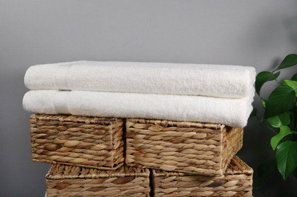 Soft Touch White 100% Turkish Cotton 650 GSM Bath Towels