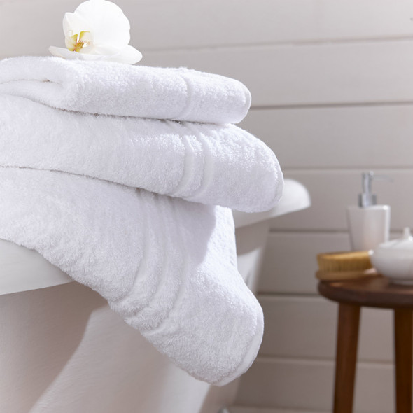 Soft Touch White 100% Turkish Cotton 500 GSM- Bath Sheets