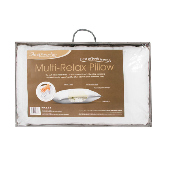 Multi-Relax Pilllow with Memory Foam Support