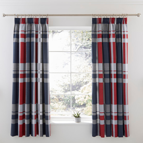 Lined Curtain Pair with Tie Backs
