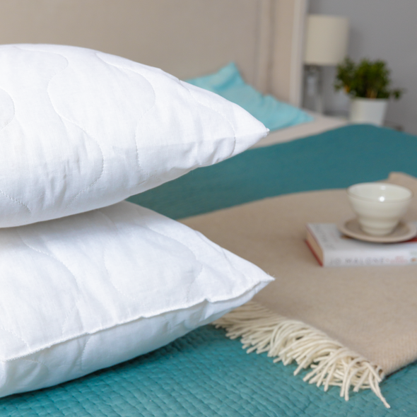 Deep Quilted Polycotton Pillows