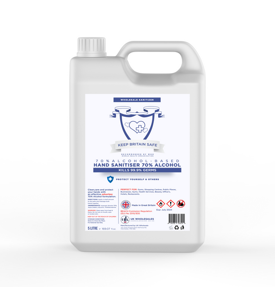 Wholesale  70% Alcohol Hand Sanitiser - 5L