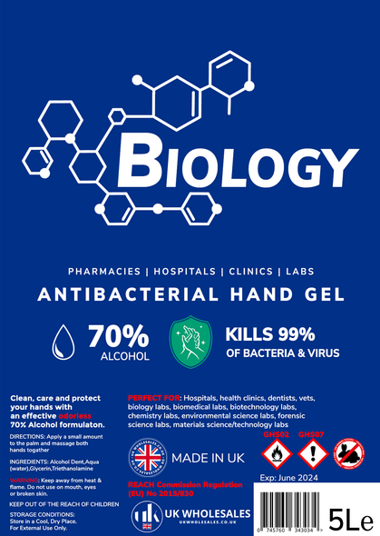 Biology Antibacterial Hand Gel 5L