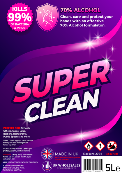 Super Clean Antibacterial Hand Gel 1L