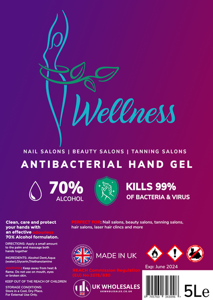 Wellness Antibacterial Hand Gel 1L
