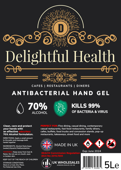 Delightful Health Antibacterial Hand Gel 500ml
